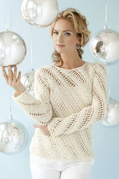 DJC Spiral pattern Icicles Pullover | crochet today//// Doris Chan modified pattern and sells it on Ravelry