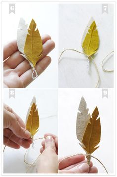 diy fabric feather