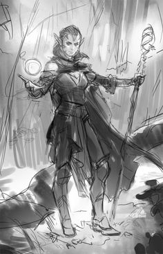 Art in Focus - Nissa, Vastwood Seer by Wesley Burt Character Concept, Concept Art, Character Design, Female Characters, Fictional Characters, Magic Art, Wizards Of The Coast, Sci Fi Fantasy, Character Illustration