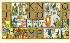 Alphabet of old friends - vintage book