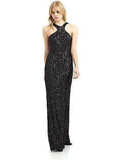 Theia long sequin #gown #dress #Fashion $259 (reg 1295!!)