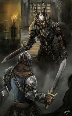 Dark Souls,фэндомы,DS art,DS персонажи,Chosen Undead,Black knight