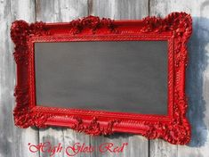 "HOLLYWOOD REGENCY CHALKBOARD Wedding Chalkboard White Red Black Gold Grey Black board 36""x21"" French Country Home Gothic Wedding Decor."