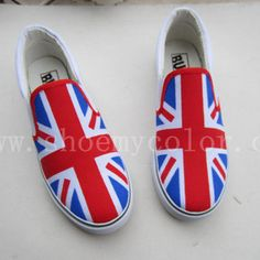 Union Jack fashion hand painted shoes