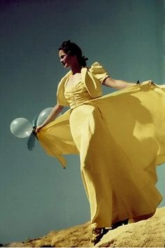 Vogue 1938 30s 40s ball gown party long dress yellow with jacket