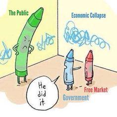 Siempre la culpa es de alguien más... El estado responsabiliza al mercado de sus errores.