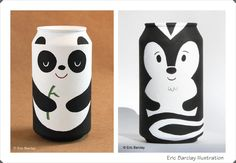 Los niños pueden decorar latas con el dibujo que ellos quieran de forma libre y utilizarlas para guardar los lapiceros