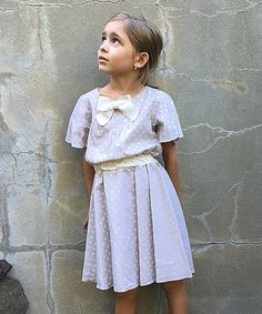 Look what I found on #zulily! Ecru Dot Gretchen Dress - Toddler & Girls #zulilyfinds