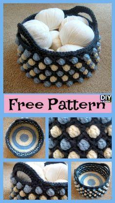 Beautiful Crochet Round Basket – Free Patterns.#freecrochetpattern #freepattern #basket