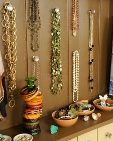 Turning an old cupboard into a jewelry chest