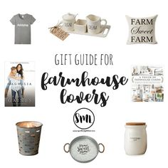 Need a gift? Adorable and affordable gift ideas for the farmhouse lover in your life! Great holiday gift guide for farmhouse lovers. Country Farmhouse Decor, Farmhouse Style Decorating, The Magnolia Story, Husband Best Friend, Birthday Wishlist, Decorating Blogs, Holiday Gift Guide, Place Card Holders, Lovers