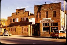 Dubois Wyoming in the mid to late 1960s...take a look at the cars. Love the 57 Chevy wagon! ♡