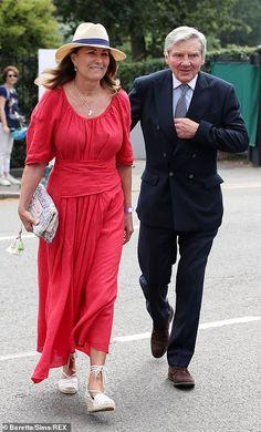 James Middleton, Carole Middleton, Middleton Family, Princess Kate Middleton, Red Sundress, Dress Red, Lord Frederick Windsor, Prince Michael Of Kent, Red Frock