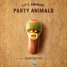 Lit'l Smokies Quarter Pup | Hillshire Farms. He's ready for the big game - and to feed your football party!