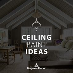 Waterborne Ceiling Paint is an ultra flat finish designed to hide common ceiling imperfections for a look that is virtually flawless. Exterior Paint, Interior And Exterior, Ceiling Paint Colors, Indoor Paint, Paint Stain, Benjamin Moore, Paint Ideas, Colouring, Im Not Perfect