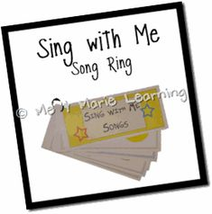 A great list of songs to put on song rings. These would be wonderful to have hanging in circle time or by the door for transitions.