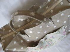 cabas zippé en tissu enduit tutorial