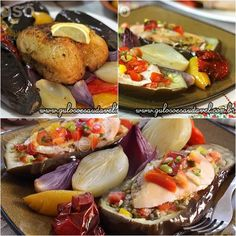 Este Peito de Frango Assado com Berinjelas é uma ótima forma de dar uma variada no #almoço, é super rápido e fácil! Todos amam!   #Receita aqui: http://www.gulosoesaudavel.com.br/2014/11/12/peito-frango-assado-berinjelas/