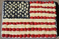 Flag Cake! Happy July 4th!  Food | Tumblr