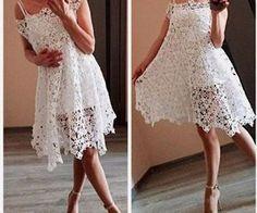 Crochet openwork dress