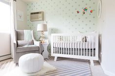 DIY Painted Wall Stencils - Starry Night Nursery Baby Kids Room Decor - Mint White Silver