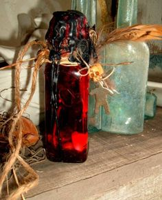 Custom Worked Voodoo Hoodoo Magick Fiery Wall of Protection Uncrossing Spell Bottle by Mambo Belle