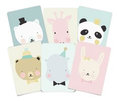 Lovely Animals – set of 6   EefLillemor®