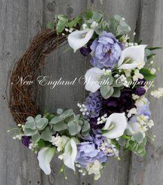 Elegant Spring Garden Wreath by NewEnglandWreath