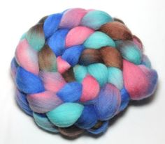 Hand Painted Roving  Berry Patch  Falkland Wool by LittleLibellule