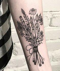 Makeup Artist Tattoo, Makeup Artist Quotes, Makeup Tattoos, Sexy Tattoos, Body Art Tattoos, Sleeve Tattoos, Lipstick Tattoos, Dream Tattoos, Tattoo Drawings