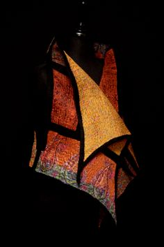 Focus on surface design with merino prefelt wool and recycled sari silks/hand-felted