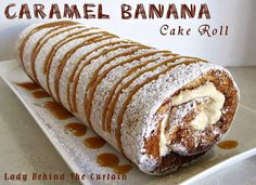 How good does this Caramel Banana Cake Roll look? It's a total show stopper and sure to impress. You'll love the Caramel Banana Bread as well!