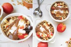 If you're seeking a healthy and delicious breakfast idea, look no further than this apple baked oatmeal with caramel sauce! Coconut Whipped Cream, Gluten Free Oats, Baked Oatmeal, Apple Recipes, Diet Recipes, Healthy Recipes, Healthy Sweets, Healthy Salads, Eat Healthy