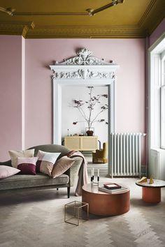 New Living Room Grey White Brown Floor Colors 54 Ideas Living Room Grey, Living Room Decor, Decor Interior Design, Interior Decorating, Decorating Ideas, Apartments Decorating, Interior Paint, Murs Roses, Painted Wood Floors