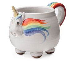 Drink From A Magical Unicorn Vessel-   If I had this cup, I would literally bust all of my other coffee mugs against a wall. That's how awesome this cup is.