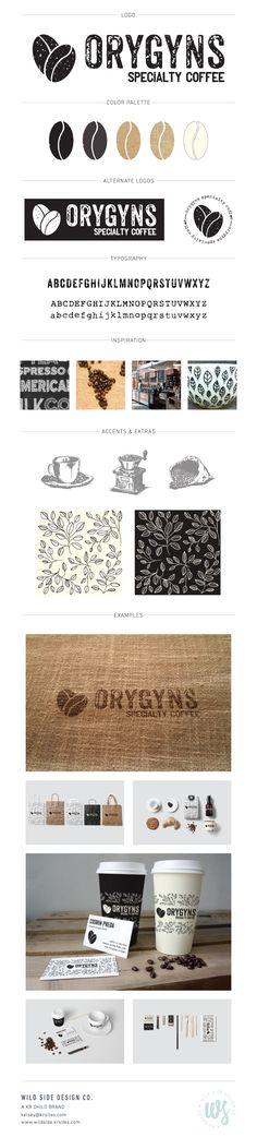 Brand Launch   Brand Style Board   Coffee Shop Branding   Orygyns Brand Design by Wild Side Design Co.   #branding www.wildside.krsites.com