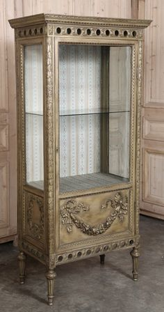 Antique Italian Neoclassical Painted Vitrine | Antique Furniture | Inessa Stewart's Antiques #antique #furniture