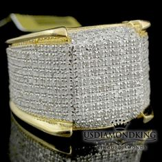 Nice Great Men's 10k Yellow Gold Finish Genuine Real Diamond Iced Pinky Ring Eternity Band 2018