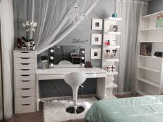 Make Up Vanity for Bedroom Luxury My Vanity Bedroom Decor Bedroom Vanity Bedroom Makeup Vanity, Vanity Room, Makeup Rooms, Diy Vanity, Vanity Set, Vanity Chairs, Vanity Decor, Bedroom Vanities, Mirror Room