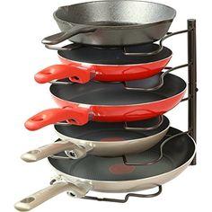 SimpleHouseware Pan Organizer Rack Holder Pot Lid Kitchen Cabinet Pantry Home    #SimpleHouseware