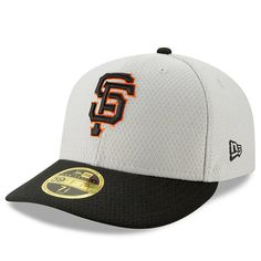4e8fed91b3d1b Men s San Francisco Giants New Era Gray Black 2019 Batting Practice Road  Low Profile 59FIFTY Fitted Hat