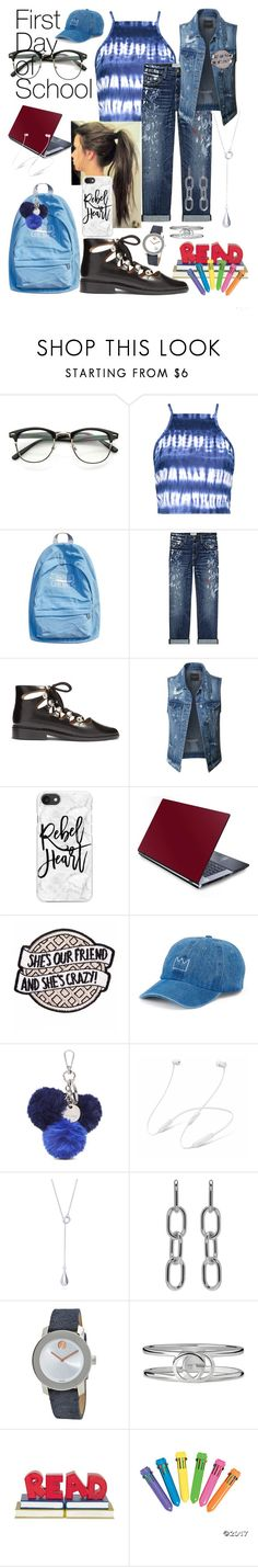 """First Day of School🛎🚌"" by mdfletch ❤ liked on Polyvore featuring Boohoo, WithChic, Current/Elliott, Toga, LE3NO, Casetify, SO, Nine West, Alexander Wang and Movado"