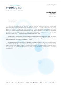 MOONSTATION new business letter temaplate