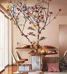 blog de decoração - Arquitrecos: Árvores de natal de galhos - Imagens que me inspiraram