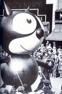 """Felix the Cat- Parade balloon in 1927 Remember """"Felix the Cat?"""" Felix was the first balloon ever to be featured in the 1927 parade, replacing the live animals that were used in the previous parades."""