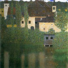 Schloss Kammer at Lake Atter, 1908 by Gustav Klimt  #klimt #paintings #art