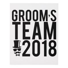 Groom's team 2018 panel wall art  $63.30  by parisjetaimee  - cyo customize personalize diy idea