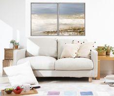 """Freue mich, euch diesen Artikel aus meinem Shop bei #etsy vorzustellen: VICTORIA  Acryl Gemälde 80x50cm """"SEA VEW I"""" Acrylbild Abstrakt, Modern Victoria, Sofa, Couch, Modern, Love Seat, Throw Pillows, Bed, Etsy, Painting Abstract"""