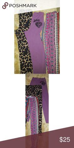 Leggings bundle Ed Hardy, Thalia Sodi, gypset Smal Fun prints leggings, all in good condition. All size small. Pink leggings Ed Hardy, leopard print Thalia Sodium, and colorful ones are Gypset Mermaid. Ed Hardy Pants Leggings