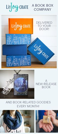 LitJoy Crate is an easy and joyful way to discover New-Release books every month! Each month you receive a new hardback book for your library, and 4 to 6 LitJoy exclusive items for home, beauty, curling up with a good book. The JOY of literature, delivered monthly!